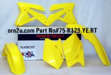 New RMZ 450 07 Racetech Plastic Kit Motocross Plastics Yellow 2007